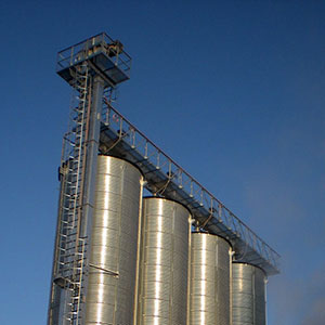 New battery of silos for storing rice