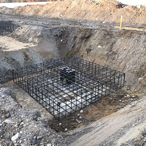 Foundations for new production facility