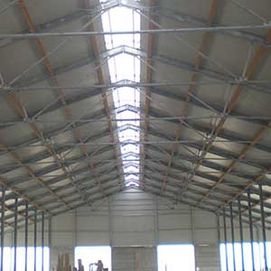 Structural project for the construction of stalls for raising cattle